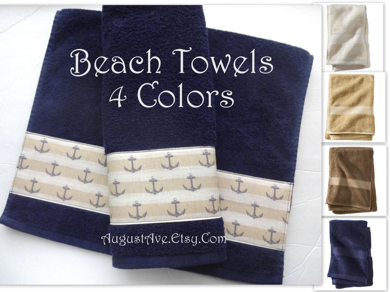 Beach Ocean Themed Bath Towels Anchor Bath Towels Hand
