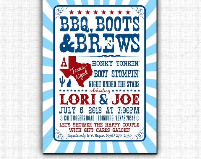 BBQ BOOTS & BREWS | Invites or Digital File