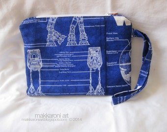 Zippered Wristlet/Clutch in a Cool Star Wars Fabric!