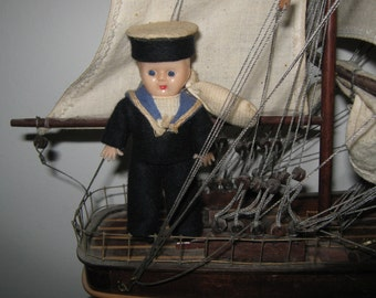 Loveable, 1950's  Little Sailor Doll