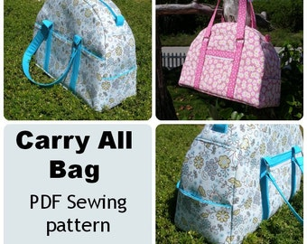 Carry All Bag - PDF Sewing  pattern - weekender or carry-on luggage