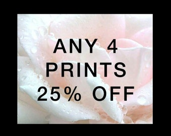 Choose any Four fine art prints - 25% Discount