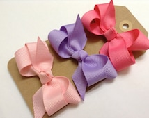 "You Pick 2.5"" Ribbon Bow Hair Clip For Baby Girl. Bow Hair Clip For Girls"