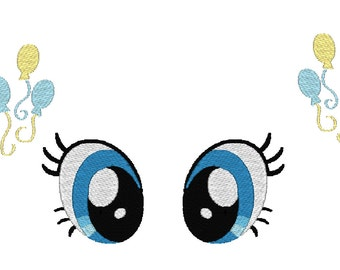Pinkie Pie Inspired Eyes and Cutie Mark machine embroidery files