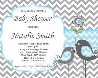 Printable Baby Shower Invitation Boy Baby Shower invitation Baby Boy Shower Invitation - FREE Thank You Card - editable pdf Download (1421)