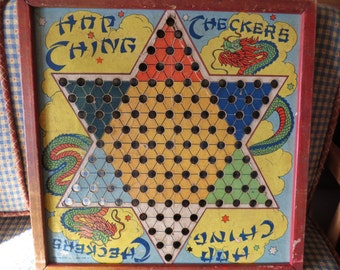 Awesome Vintage Chinese Checkers Game Board