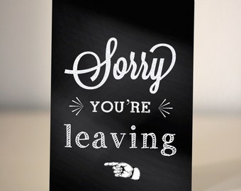farewell card / Goodbye card / sorry you're leaving
