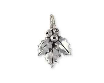 Sterling Silver Holly Charm Jewelry HLY1-C