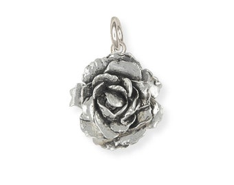 Sterling Silver Peony Flower Charm Jewelry PNY-C