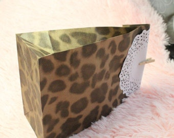 Leopard print gift bags / Animal prints thick gift bags in set of 10