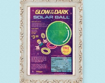 1985 GLOW-In-The-DARK Solar Bouncy Ball Vintage Toy Ad