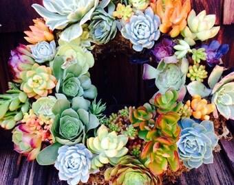 "13""  colorful wreath"