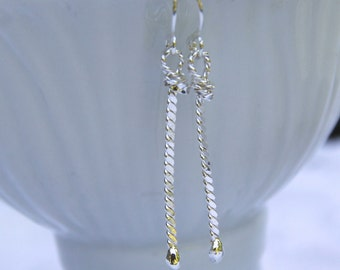 Twisted Wire Rope Earrings
