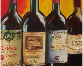 Popular items for wine painting on Etsy