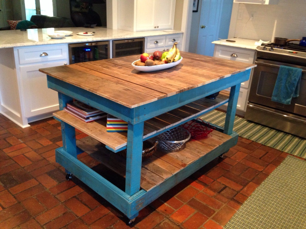 Large Rustic Kitchen Island Country Cottage Buffet By