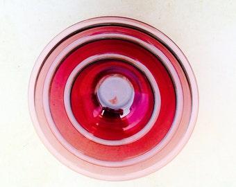 Retro Violet Pyrex nesting bowl trio
