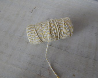 Yellow and White Baker Twine - 12 ply 20 Metres
