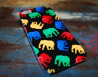 Colorful Elephant for Iphone 6 (4.7) 4.7 5c 5 5s 4s 4 Back Cover Indian Tribal Print Case African Fun Cases Hard Plastic Cover c117