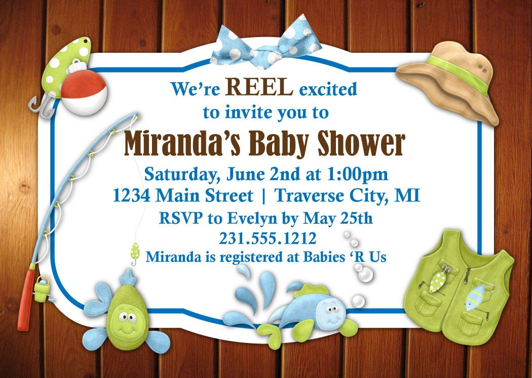 fishing baby shower invitation by announceitfavors on etsy