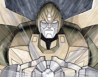 """Rodimus Prime Transformers """"Light Our Darkest Hour"""" Original Sketch Cover"""