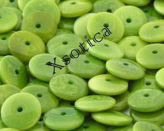 Green 12mm Lentil Tagua Bead Spacers. QTY: 20pcs