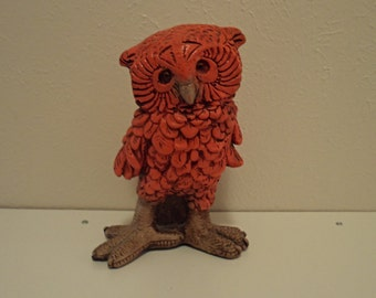 Groovy Vintage Orange Owl from the 60s