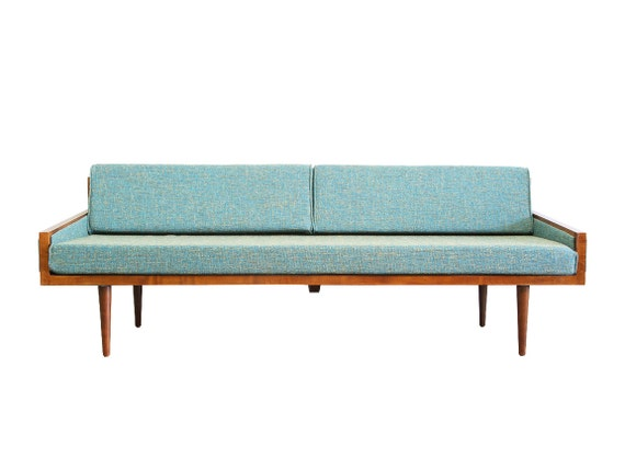 Mid century modern daybed with arms executive for Sofa 60er jahre
