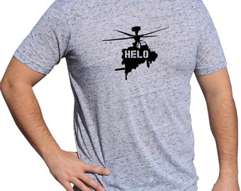 Army Tactical Triblend Soft Vinyl Tshirt   Helicopter Military Shirt   Air Force Military   Shirt With Helo   MILITARY HELICOPTER TSHIRT m07