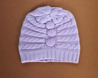 Light Purple Bella Cashmere Hat