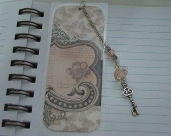 Beaded, laminated bookmark