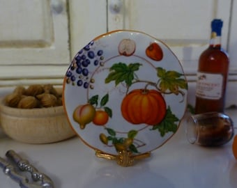 Fruit Harvest Time Plate for Dollhouse