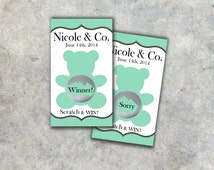 Baby Shower Party Game Scratch Off Game Cards 10ct - Baby Shower
