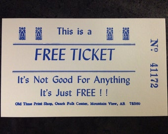Free Tickets - Package of 100 Novelty Tickets