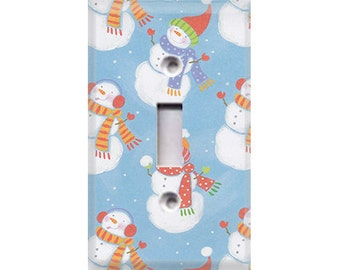 Holiday Snowmen Style 3 Light Switch Cover