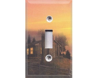 Outdoor Cabin Style 2 Light Switch Cover