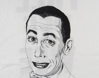 Vintage 1991 Pee Wee Herman Mug Shot 90s Tv Children S