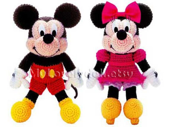 Baby Mickey Amigurumi Pattern : Mickey Mouse & Minnie Mouse Amigurumi Crochet PDF Pattern in