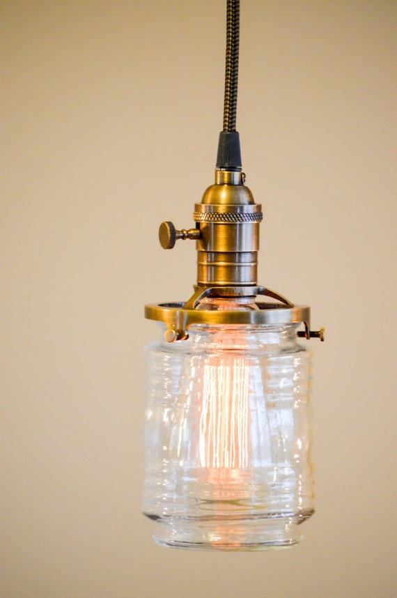 Jelly jar hanging pendant light for Jellyfish light fixture