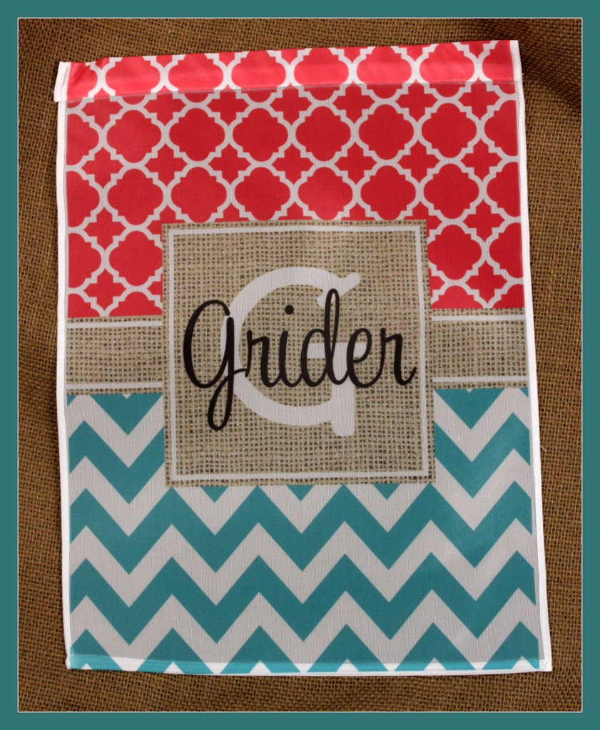 Personalized Garden Flag Monogrammed Outdoor Garden Flag