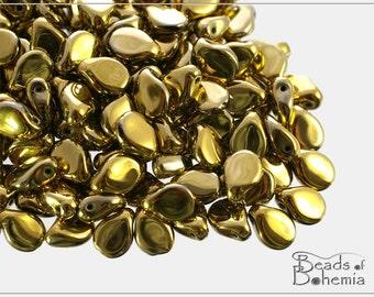60 pcs Amber Full Czech Preciosa PIP Beads 5x7 mm (8929)