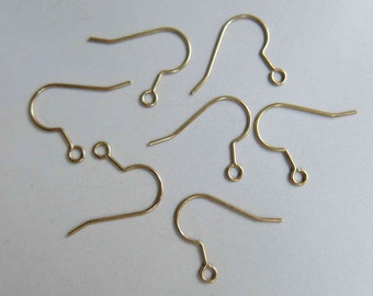 100pcs Raw Brass Ear Wire Earring Findings 20mm  - F164