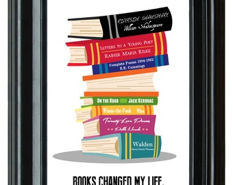 "CUSTOM Books Changed My Life--11""x17"" Art Print"