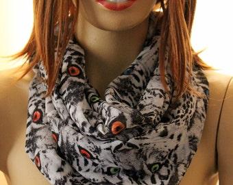 Tiger cat print scarf, eye print scarf, animals scarf, animals scarves, fashion scarf, accessories, women accessories, wraps, spring fashion