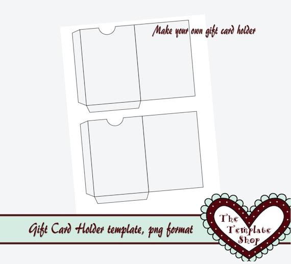 gift card holder template png format instant by thetemplateshop. Black Bedroom Furniture Sets. Home Design Ideas