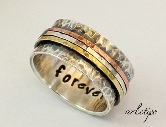 personalized sterling silver ring wedding band custom