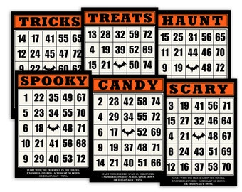 It's just an image of Effortless 25 Printable Halloween Bingo Cards