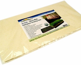 Pack Of 10 Biostrate Hydroponic Microgreens Grow Pads
