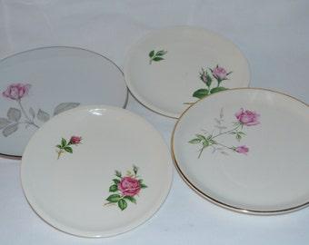 SALE - Vintage Rose China plates