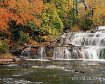 Print, River Landscape, Autumn Colors, Canadian Landscape, Almonte Ontario Canada