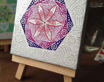 Original Mandala painting: Mandala 7-5cmSQ-10